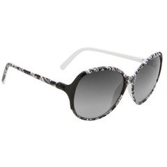 Spy Optic Edyn Black w/White Lace-Black Fade Lens