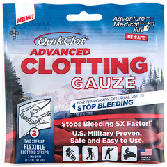 QuikClot Advanced Clotting Gauze 3 in x 24 in - 2 pack