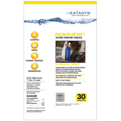 Katadyn Micropur Water Purifier Tablets (30 tablets)