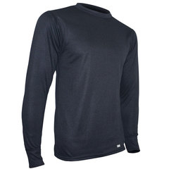 Polarmax Men's Double Base Layer Crew Black