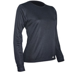 Polarmax Acclimate Women's Double Base Layer Crew Top Black