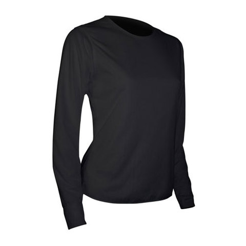 Polarmax Women's Base Layer Basics Crew Top Black