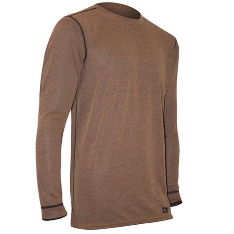 Polarmax Men's Micro H2 Long Sleeve Crew Shirt-Rust