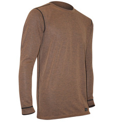 Polarmax Men's Micro H2 Long Sleeve Crew Shirt-Rust