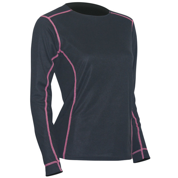Polarmax Women's Max Ride Long Sleeve Top-Black/Pink