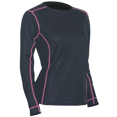 Polarmax Women's Max Ride Long Sleeve Top-Black/Pink