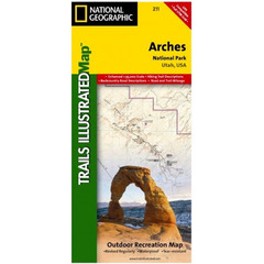 National Geographic Arches National Park Trails Illustrated Map