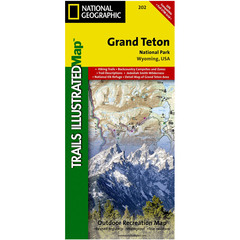 National Geographic Grand Teton National Park Trails Illustrated Map