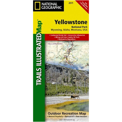 National Geographic Yellowstone National Park Trails Illustrated Map