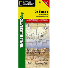National Geographic Badlands National Park Trails Illustrated Map