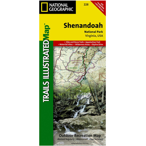 National Geographic Shenandoah National Park Trails Illustrated Map