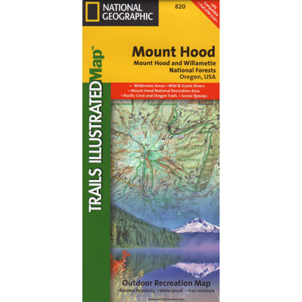 National Geographic Mount Hood National Forest Trails Illustrated Map