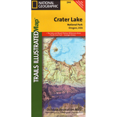 National Geographic Crater Lake National Park Trails Illustrated Map