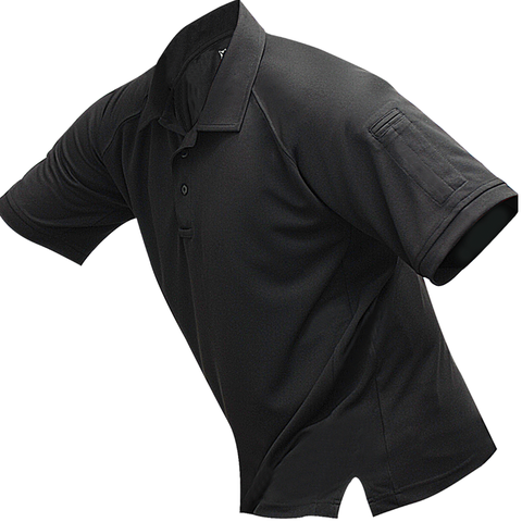 Vertx Mens coldblack Tactical Polo - Black