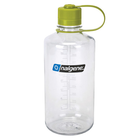 Nalgene Tritan 32 Oz. Narrow Mouth Bottle=Clear/Green Top