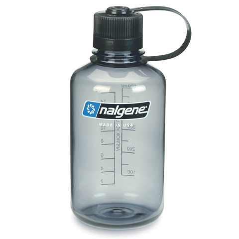 Nalgene Narrow Mouth Bottle 16 oz.=Gray