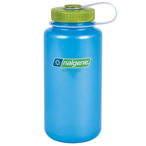 Nalgene Translucent 32 oz. Wide Mouth Bottle=Sky-Key Lime Top