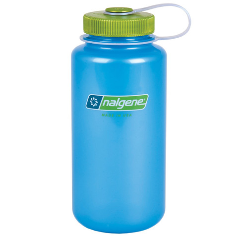 Nalgene Translucent 32 oz. Wide Mouth Bottle=Sky-Key Lime Top