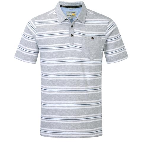 Craghoppers Men's Bosadi Short Sleeved Polo- Quarry Gray Combo
