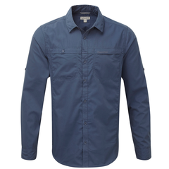 Craghoppers Men's Kiwi Trek Long Sleeved Shirt Faded Indigo