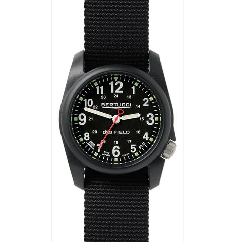 Bertucci 11015 DX3 Field Performance Watch - Black/Black Nylon