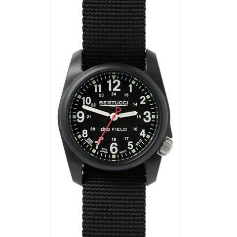 Bertucci 11015 DX3 Field Performance Watch - Black/Black Nylon