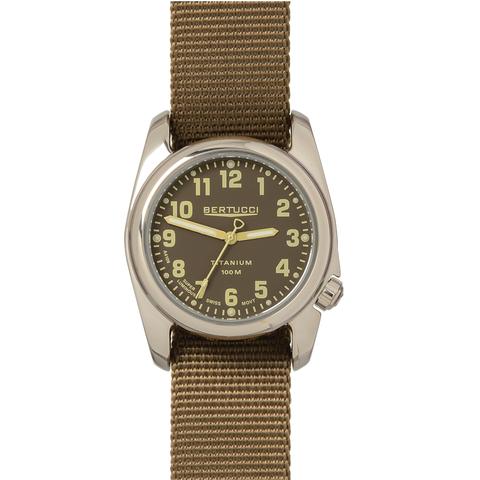 Bertucci 12043 A2T Highpolish Field Performance Watch - Burlap/Dark Khaki Nylon