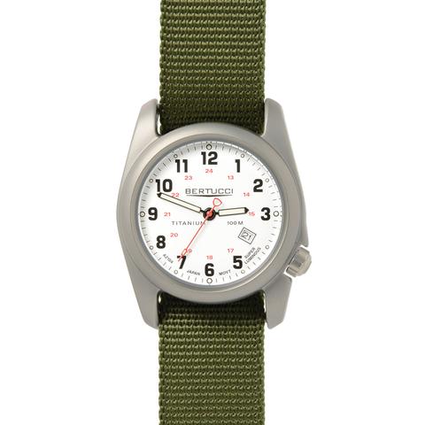 Bertucci 12121 A-2T Field Performance Watch - White/Olive Nylon