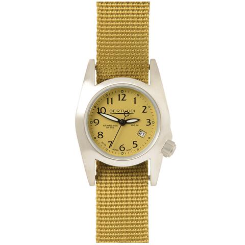 Bertucci 18004 M-1S Women's Field Performance Watch - Med. Khaki/Golden Khaki Nylon