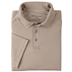 5.11  Men's Performance SS Polo Shirt-Silver Tan