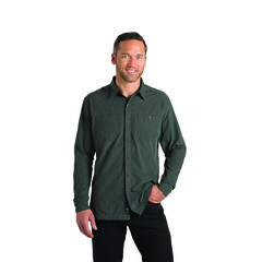 Kuhl Men's Bakbone Long-Sleeve Shirt - Carbon