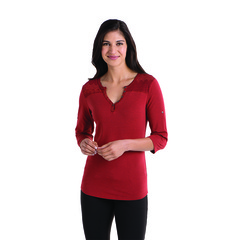 Kuhl Women's Belmont Three Quarter Sleeve Shirt - Burnt Sienna