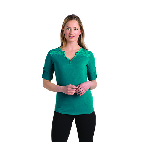 Kuhl Women's Belmont Three Quarter Sleeve Shirt - Seaglass