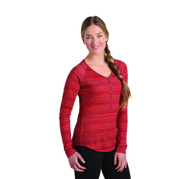 Kuhl Women's Bella Long Sleeve Shirt - Paprika Stripe