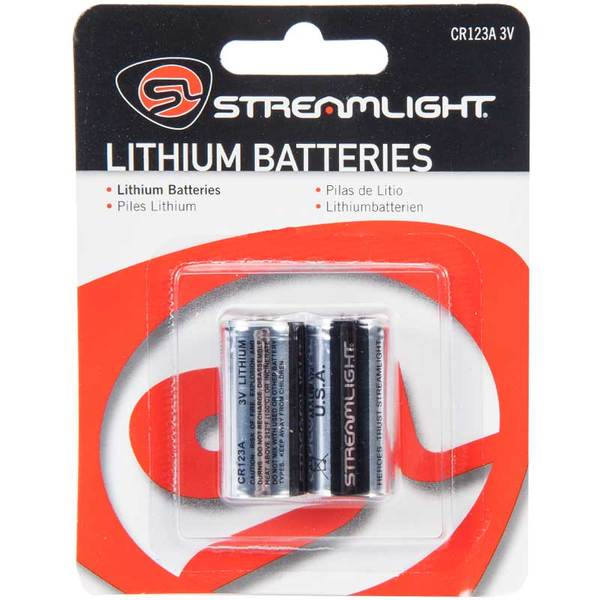 Streamlight CR123A Lithium Batteries - Pack of Two