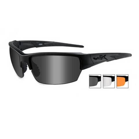 Wiley X Saint CHSAI06 Gray+Clear+Rust-Matte Black Ballistic Eyewear