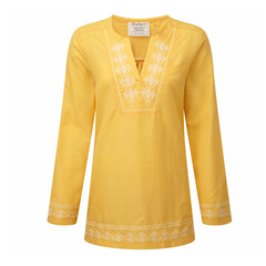 Craghoppers Women's Clemence Long Sleeved Top - Light Summer Gold