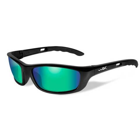 Wiley X P-17GM Pol Emerald Green Lens/Gloss Black Frame
