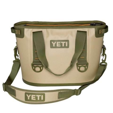 Yeti Hopper 20 Qt. Soft Cooler Field Tan - Blaze Orange