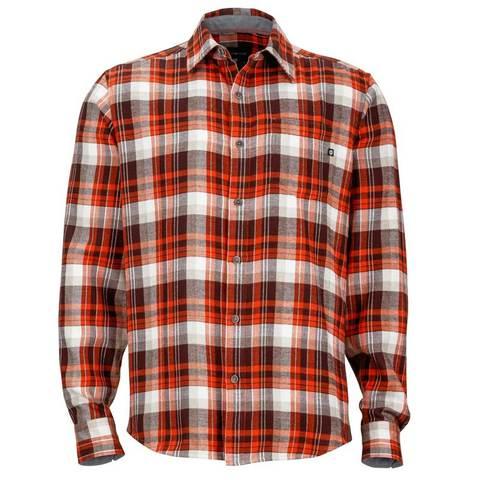 Marmot Men's Fairfax Flannel Long Sleeve - Brick