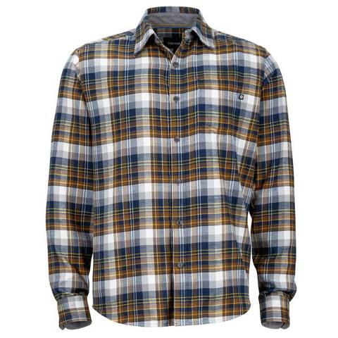 Marmot Men's Fairfax Flannel Long Sleeve - Vintage Navy
