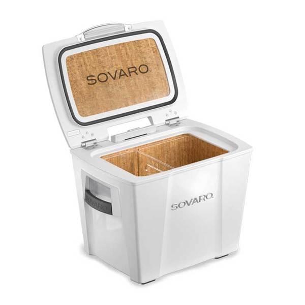 Sovaro 30 Quart Cooler- White - Chrome