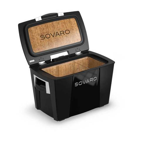 Sovaro 45 Quart Cooler- Black - Chrome