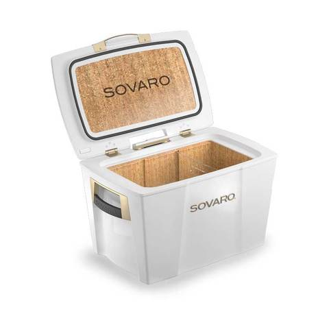 Sovaro 70 Quart Cooler- White - Gold