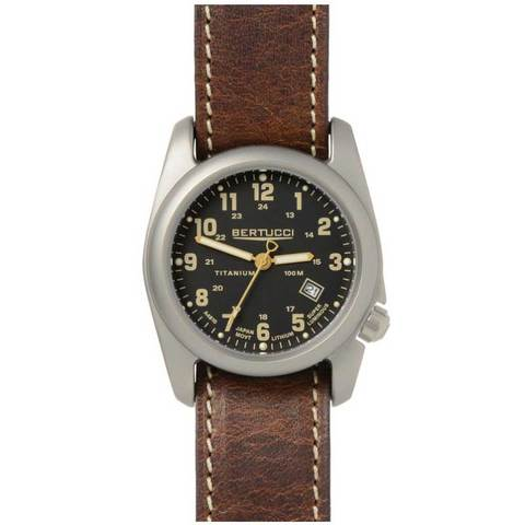 Bertucci 12712 A-2T Field Performance Watch - Black/Leather