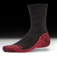 Swiftwick Pursuit Hike - Hiking Socks - Brown / Red