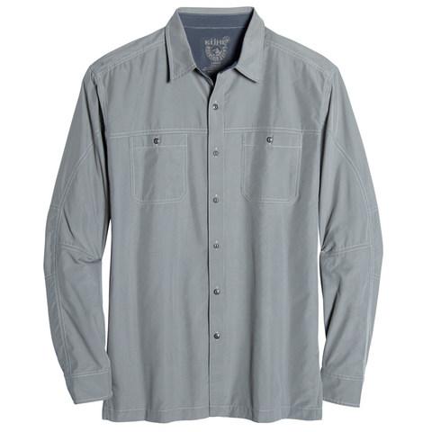 Kuhl Men's Bakbone Long-Sleeve Shirt - Metal Green