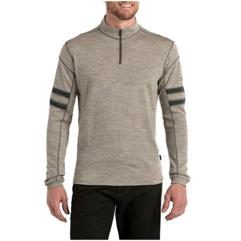 Kuhl Men's Team Quarter Zip Sweater - Oatmeal