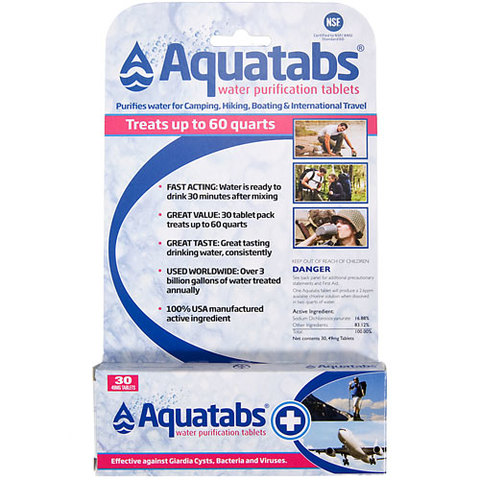 Aquatabs Water Purification Tablets-30 Pack