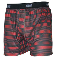 AYG Men's Performance Boxer-Cranberry Stripe